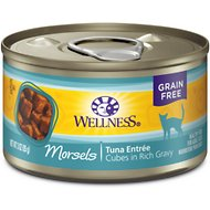 Wellness Cubed Tuna Entree Grain-Free Canned Cat Food, 3-oz, case of 24