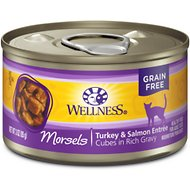 Wellness Cubed Turkey & Salmon Entree Grain-Free Canned Cat Food, 3-oz, case of 24