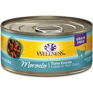 Wellness Cubed Tuna Entree Grain-Free Canned Cat Food, 5.5-oz, case of 24