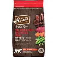 Merrick Grain-Free Real Buffalo, Beef + Sweet Potato Recipe Dry Dog Food, 4-lb bag