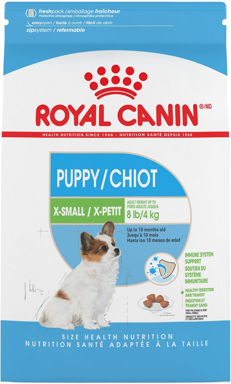 Royal Canin X-Small Puppy Dry Dog Food, 3-lb bag -