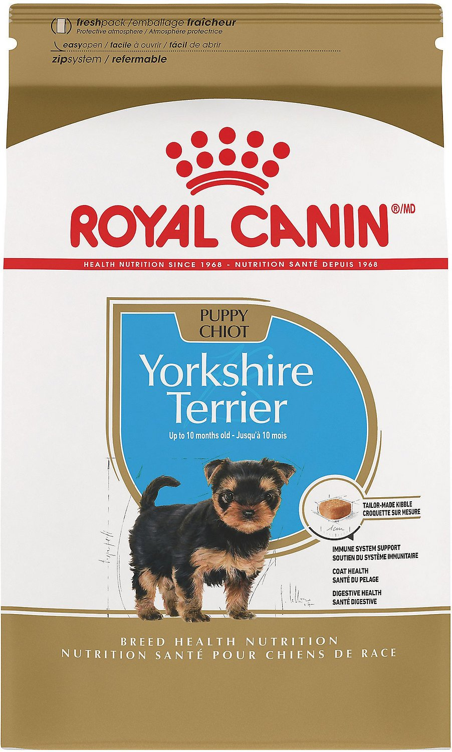 Royal Canin Yorkshire Terrier Puppy Dry Dog Food, 2 5-lb bag
