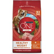 Purina ONE SmartBlend Healthy Weight Adult Formula Dry Dog Food, 31.1-lb bag