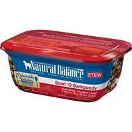 Natural Balance Delectable Delights Bowl 'O Barkgundy Stew Wet Dog Food, 8-oz, case of 12