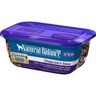 Natural Balance Delectable Delights ChopLick'n Stew Wet Dog Food, 8-oz, case of 12