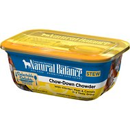 Natural Balance Delectable Delights Chow-Down Chowder Stew Wet Dog Food, 8-oz, case of 12