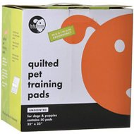 "Lola Bean Pet Pads Quilted Pet Training Pads, Large 22"" x 22"", Unscented"