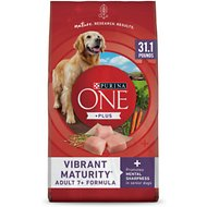 Purina ONE SmartBlend Vibrant Maturity 7+ Adult Formula Dry Dog Food, 31.1-lb bag