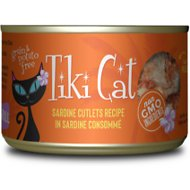Tiki Cat Tahitian Grill Sardine Cutlets Grain-Free Canned Cat Food, 6-oz, case of 8