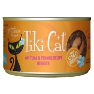 Tiki Cat Manana Grill Ahi Tuna with Prawns in Tuna Consomme Grain-Free Canned Cat Food, 6-oz, case of 8