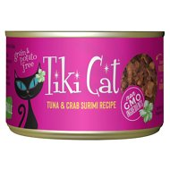 Tiki Cat Lanai Grill Tuna in Crab Surimi Consomme Grain-Free Canned Cat Food, 6-oz, case of 8