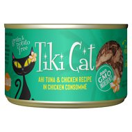 Tiki Cat Hookena Luau Ahi Tuna & Chicken in Chicken Consomme Grain-Free Canned Cat Food, 6-oz, case of 8