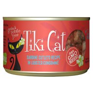 Tiki Cat Bora Bora Grill Sardine Cutlets in Lobster Consomme Grain-Free Canned Cat Food, 6-oz, case of 8