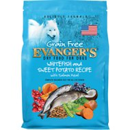 Evanger's Whitefish & Sweet Potato Recipe with Salmon Meal Grain-Free Dry Dog Food, 33-lb bag