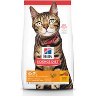 Hill's Science Diet Adult Light Chicken Recipe Dry Cat Food, 7-lb bag