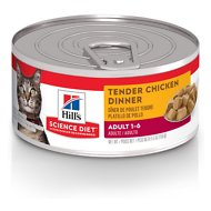 Hill's Science Diet Adult Tender Chicken Dinner Canned Cat Food, 5.5-oz, case of 24