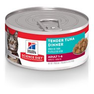 Hill's Science Diet Adult Tender Tuna Dinner Canned Cat Food, 5.5-oz, case of 24