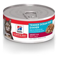 Hill's Science Diet Adult Tender Ocean Fish Dinner Canned Cat Food, 5.5-oz, case of 24
