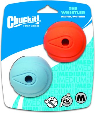 Chuckit! The Whistler Ball Dog Toy, Color Varies