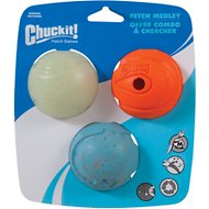 Chuckit! Fetch Ball Medley Triple Pack, Medium