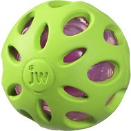 JW Pet Crackle Heads Ball Dog Toy, Color Varies, Large