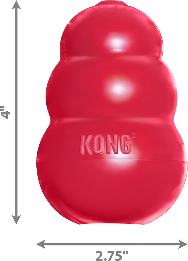 KONG Classic Dog Toy, Large - Chewy.com | Healthy Chew Toys For Dogs