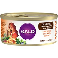Halo Chicken & Chickpea Recipe Grain-Free Small Breed Canned Dog Food, 5.5-oz, case of 12