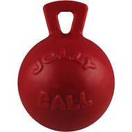 Jolly Pets Tug-n-Toss Dog Toy, Red, 8-in