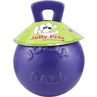 Jolly Pets Tug-n-Toss Dog Toy, Purple, 8-in