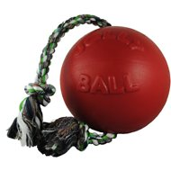 Jolly Pets Romp-n-Roll Dog Toy, Red, 6-in