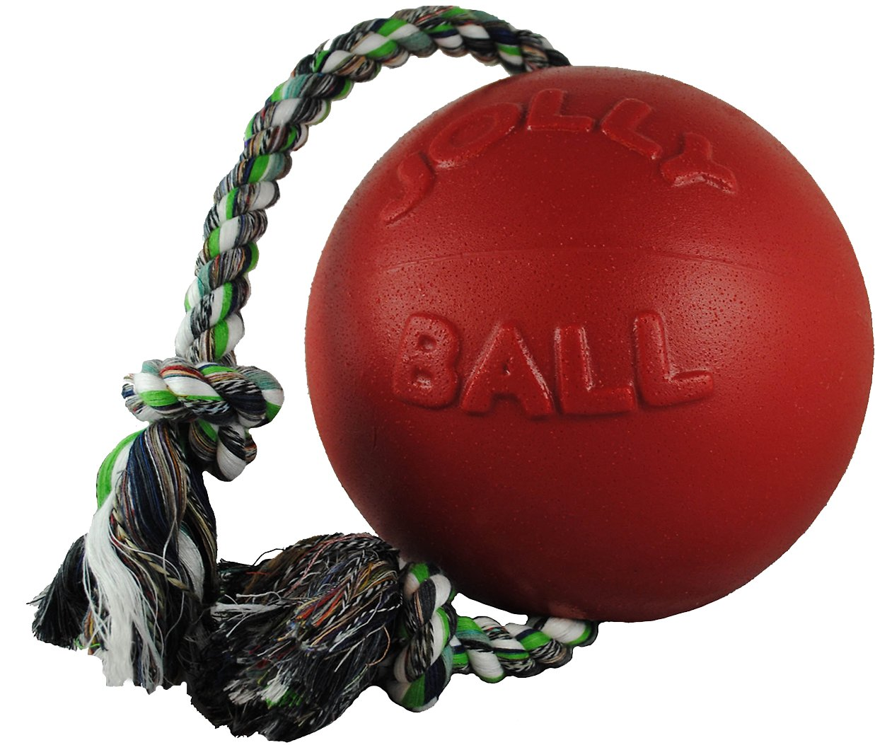 """Jolly Pets ROMP N ROLL Ball Dog Toy 4.5/"""" Tough  Red or Blue"""