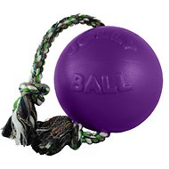Jolly Pets Romp-n-Roll Dog Toy, Purple, 8-in