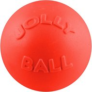 Jolly Pets Bounce-n-Play Dog Toy, Orange, 8-in