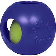Jolly Pets Teaser Ball Dog Toy, Blue, 4.5-in