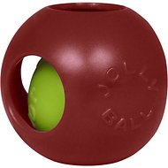 Jolly Pets Teaser Ball Dog Toy, Red, 8-in