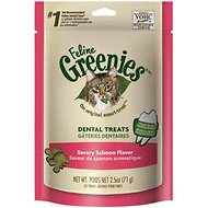 Greenies Feline Savory Salmon Flavor Dental Cat Treats, 2.5-oz bag
