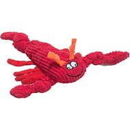 HuggleHounds Sea Creature Plush Corduroy Knottie Dog Toy, Lobsta, Small