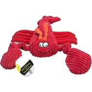 HuggleHounds Sea Creature Plush Corduroy Knottie Dog Toy, Lobsta, Large