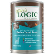 Nature's Logic Lamb Feast Grain-Free Canned Dog Food, 13.2-oz, case of 12