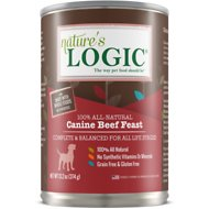 Nature's Logic Canine Beef Feast All Life Stages Grain-Free Canned Dog Food, 13.2-oz, case of 12