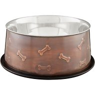 Loving Pets Artistic Embossed No Tip Pet Bowl, 48-oz bowl