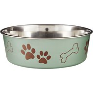 Loving Pets Bella Bowls Pet Bowl, Metallic Artichoke, X-Large