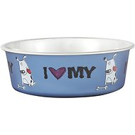 Loving Pets Bella Bowls Pet Bowl, Steele Blue, Small