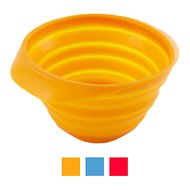 Kurgo Collaps-A-Bowl Pet Bowl, Orange