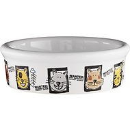 Signature Housewares Mug Shots Cat Bowl, X-Small