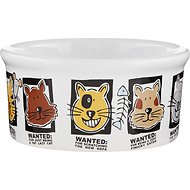 Signature Housewares Mug Shots Cat Bowl, Small
