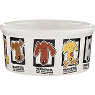 Signature Housewares Mug Shots Dog Bowl, Small