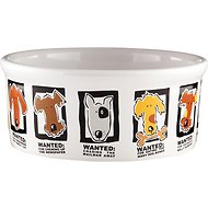 Signature Housewares Mug Shots Dog Bowl, Medium