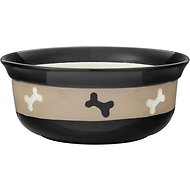 PetRageous Designs City Pets Bones Pet Bowl, 2 cup