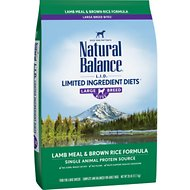 Natural Balance L.I.D. Limited Ingredient Diets Lamb Meal & Brown Rice Formula Large Breed Bites Dry Dog Food, 28-lb bag